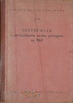 1957 - Nr R1 Instrukcja o prowadzeniu ruchu poc.