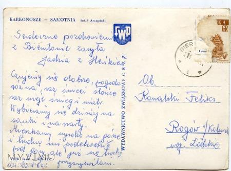 Karkonosze Samotnia 1960