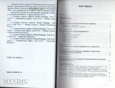 Przepisy ubiorcze żołnierzy Sił Zbrojnych RP 1996