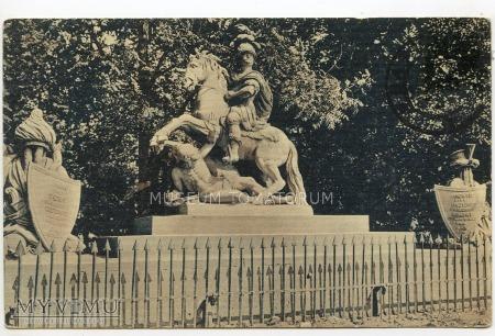 Duże zdjęcie W-wa - pomnik Sobieskiego - 1900-15