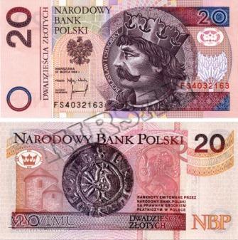 Banknot 20 zlotych 1994