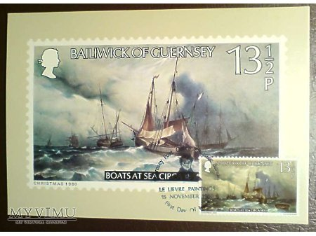 Bailiwick of Guernsey 1980 Karta Maximum Statki