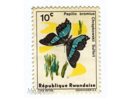1965 Rwanda Papilio bromius Motyl znaczek