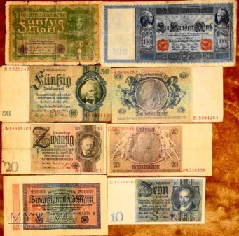 Stare Banknoty Niemieckie