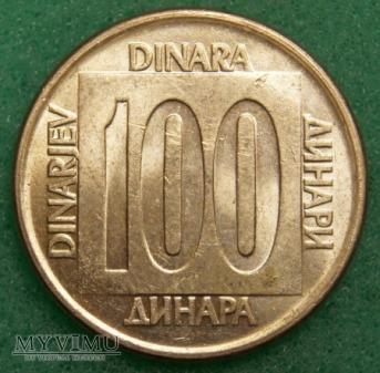 Jugosławia, 100 DINARÓW 1989