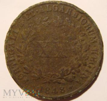 XX reis, Portugalia 1848