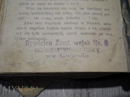 Książka z biblioteki 6 Dyw. Żandarmerii Lwów