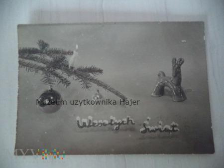 Wesołych Świąt - kartka pocztowa