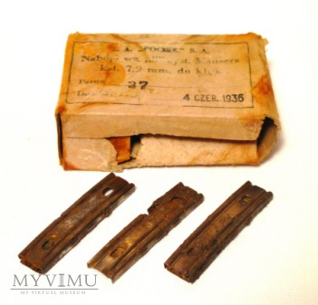 Pudelko do amunicja 7,92mm z pociskami typu S