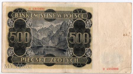 01.03.1940 - 500 Złotych