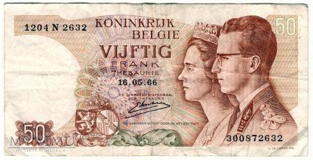 Belgia, 50 Franków 1966r