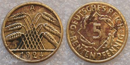 Niemcy, 1924, 5 Rentenpfennig
