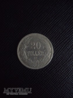 20 Filler 1893, Węgry