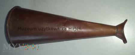 BEKADŁO - Stara mosiężna tuba megafon głośnik