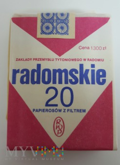 Papierosy Radomskie 1990 rok. Cena 1300 zł