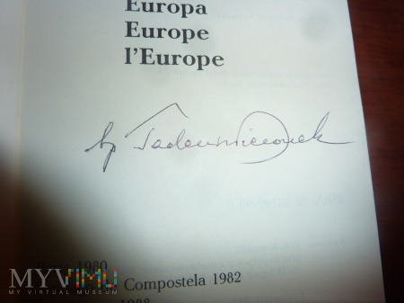 Autograf Biskupa Tadeusza