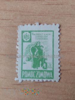 znaczek polskiej pomocy zimowej