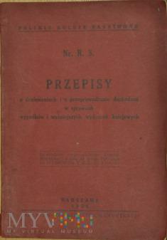 1930 - Nr. R. 3. Przepisy w sprawach wypadków