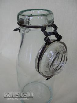 Butelka szklana, duży otwór - kabłąkowa