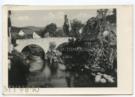 Bad Landeck - Lądek Zdrój, most na Bialej - 1953