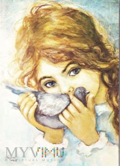 Dziewczynka z gołębiem