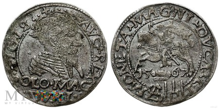 Duże zdjęcie Grosz litewski na stopę polską Zygmunt II August