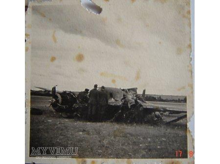 Zestrzelony samolot