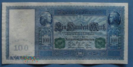 100 Mark 1910 - Reichsbanknote - Cesarstwo Niemiec