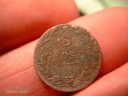 Moneta 5 groszy z 1840.