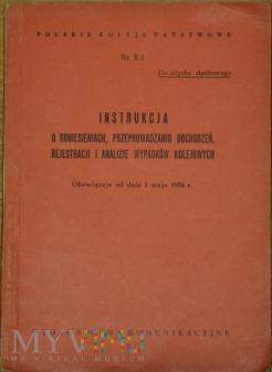 1956 - Nr R 3 Instrukcja o wypadkach kolejowych