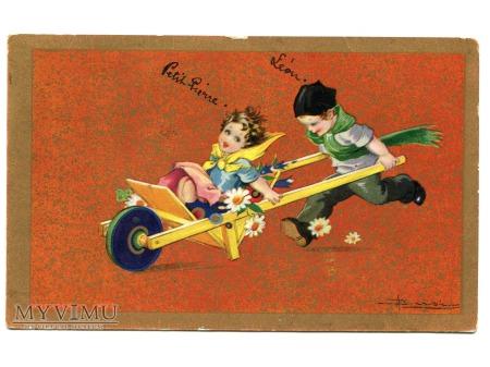 Adolfo Busi ART DECO pocztówka Degami postcard