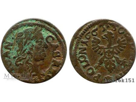 Duże zdjęcie szeląg koronny 1663 8