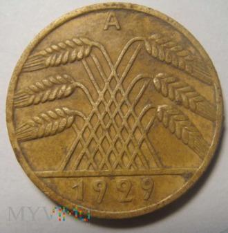 10 Reichspfennig 1929 A ,Republika Weimarska