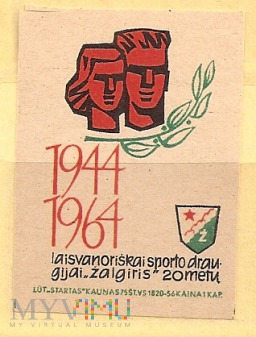 20 lat Žalgiris. 1944-1964.1