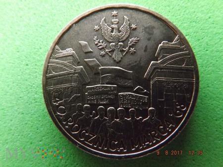Polska 2 złote, 2008 40rocz. marca 68
