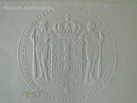 Patent oficerski z 1890 roku