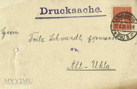 Karl Ehlert Konigsberg 1922 r.