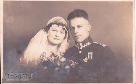Fotografia ślubna sierżanta 56 P.P. Wlkp.