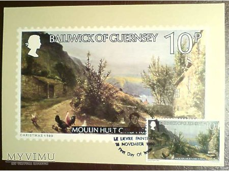 Bailiwick of Guernsey 1980 Karta Maximum Moulin
