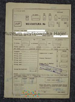 Trabant 601 S WZ-Faktura na zakup samochodu