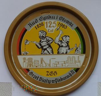 ZGH Orzeł Biały - metalowa taca z okazji 125-lecia