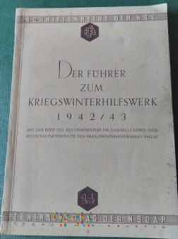 Der Führer zum Kriegswinterhilfswerk 1942/43
