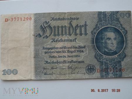 Hundert Reichsmark 1935r. 100 Reischmark