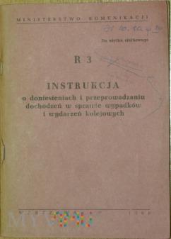 1968 - R 3 Instrukcja w sprawie wypadków kol.