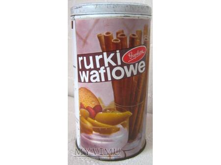 Rurki waflowe - puszka.