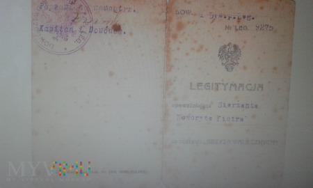 Legitymacja Krzyża Walecznych Piotr Noworyta