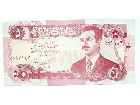 Irak- 5 Dinarów Irackich UNC