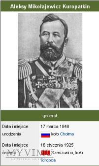 Pożegnanie generała Kuropatkina