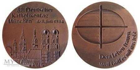 88. Niemiecki Dzień Katolicki Monachium medal 1984
