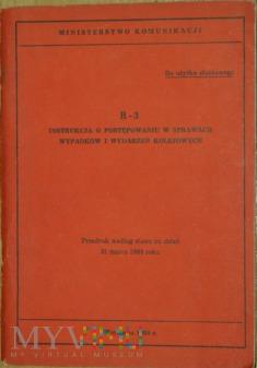 1984 - R-3 Instrukcja w sprawach wypadków kol.